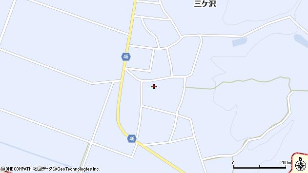 山形県東田川郡庄内町三ケ沢堰南36周辺の地図