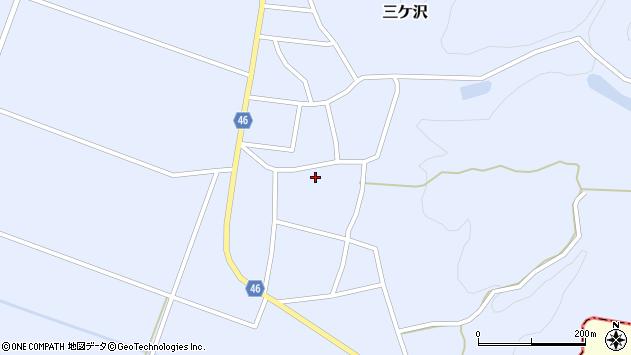 山形県東田川郡庄内町三ケ沢堰南16周辺の地図
