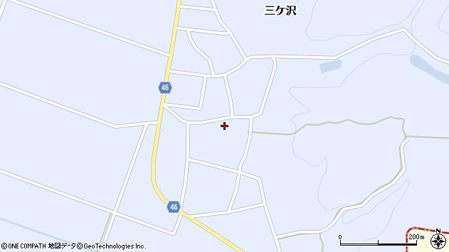 山形県東田川郡庄内町三ケ沢堰南15周辺の地図