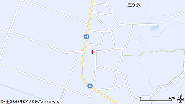 山形県東田川郡庄内町三ケ沢堰南40周辺の地図