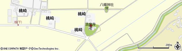 宮城県栗原市志波姫北郷館周辺の地図