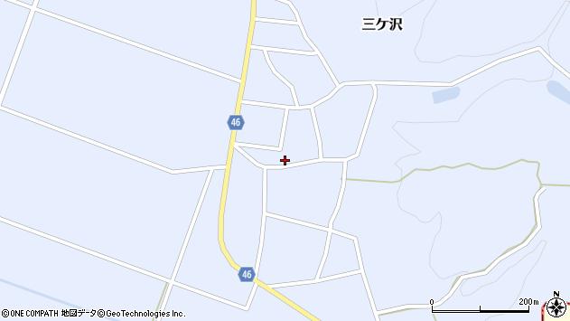山形県東田川郡庄内町三ケ沢宮田54周辺の地図