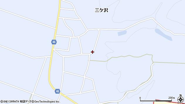 山形県東田川郡庄内町三ケ沢宮田10周辺の地図