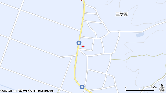 山形県東田川郡庄内町三ケ沢宮田153周辺の地図