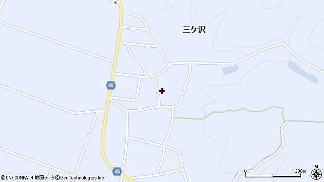 山形県東田川郡庄内町三ケ沢宮田40周辺の地図