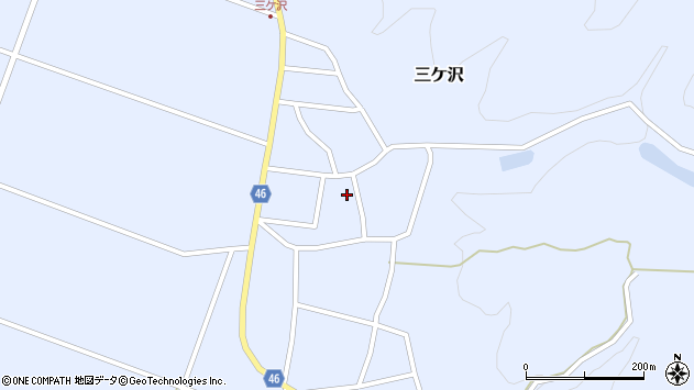 山形県東田川郡庄内町三ケ沢宮田48周辺の地図