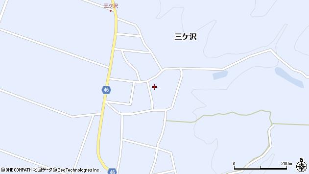 山形県東田川郡庄内町三ケ沢宮田36周辺の地図