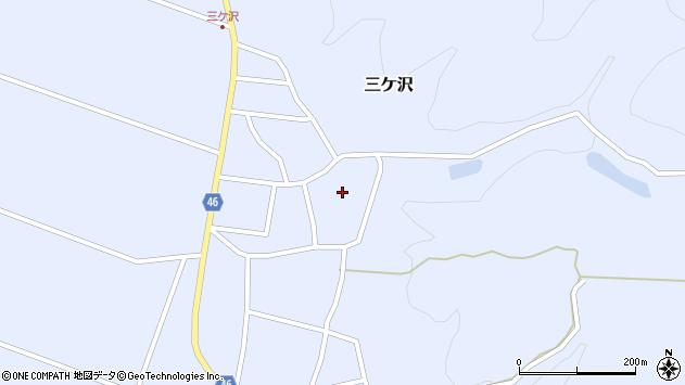 山形県東田川郡庄内町三ケ沢宮田15周辺の地図