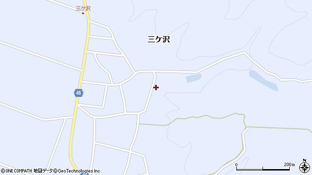 山形県東田川郡庄内町三ケ沢宮田4周辺の地図