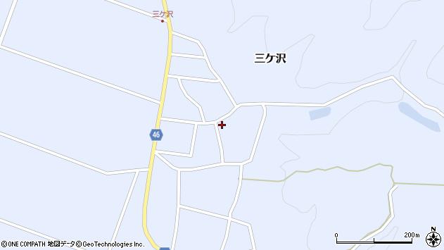 山形県東田川郡庄内町三ケ沢宮田35周辺の地図