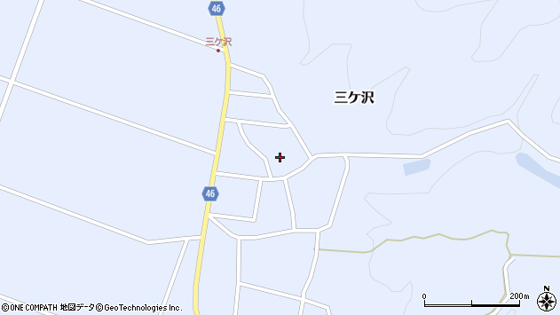 山形県東田川郡庄内町三ケ沢宮田32周辺の地図