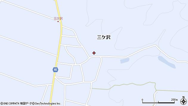 山形県東田川郡庄内町三ケ沢中里16周辺の地図