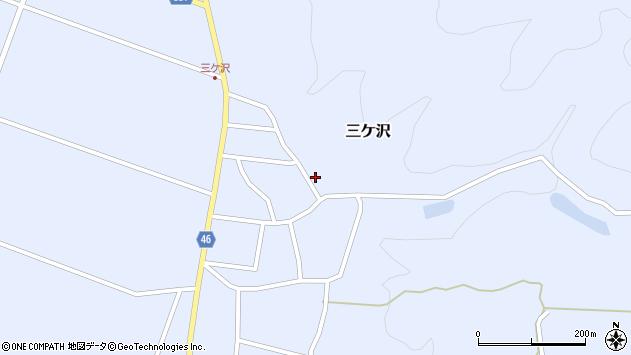 山形県東田川郡庄内町三ケ沢中里33周辺の地図