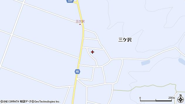 山形県東田川郡庄内町三ケ沢中里84周辺の地図