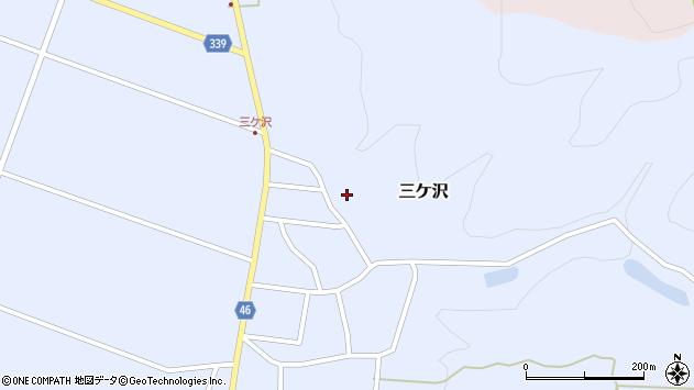 山形県東田川郡庄内町三ケ沢中里59周辺の地図
