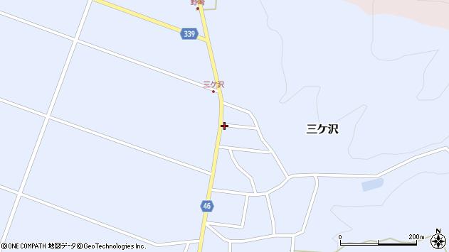 山形県東田川郡庄内町三ケ沢中里82周辺の地図
