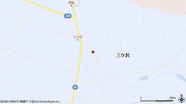 山形県東田川郡庄内町三ケ沢中里85周辺の地図