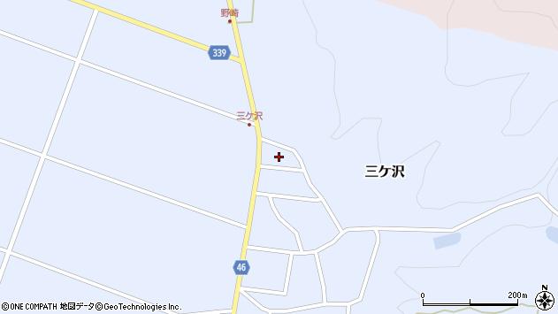 山形県東田川郡庄内町三ケ沢中里87周辺の地図