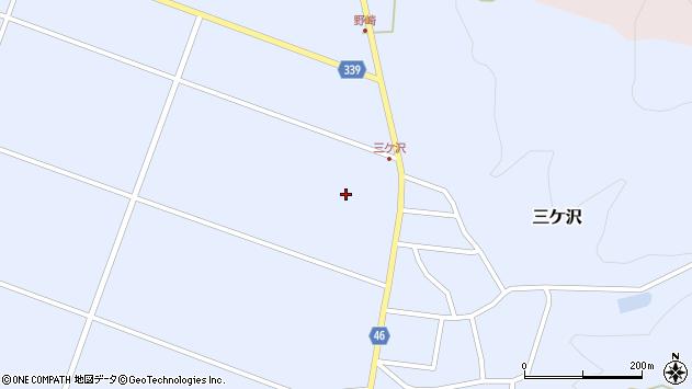 山形県東田川郡庄内町三ケ沢中江周辺の地図