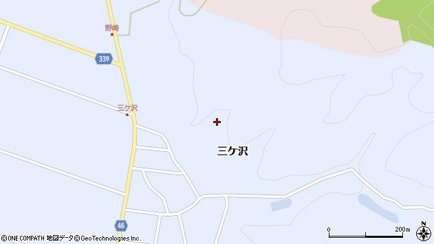山形県東田川郡庄内町三ケ沢中里47周辺の地図