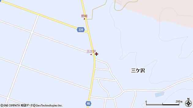 山形県東田川郡庄内町三ケ沢中里94周辺の地図