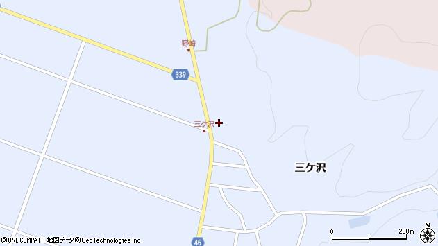山形県東田川郡庄内町三ケ沢中里95周辺の地図