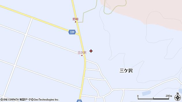 山形県東田川郡庄内町三ケ沢中里66周辺の地図