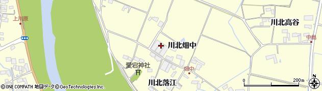 宮城県栗原市若柳川北畑中周辺の地図