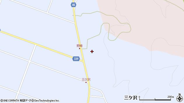 山形県東田川郡庄内町三ケ沢中里周辺の地図