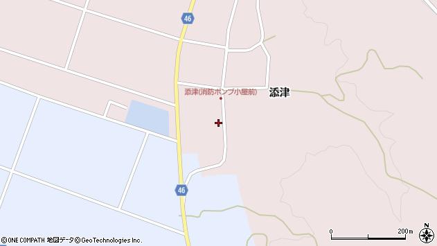 山形県東田川郡庄内町添津諏訪下33周辺の地図