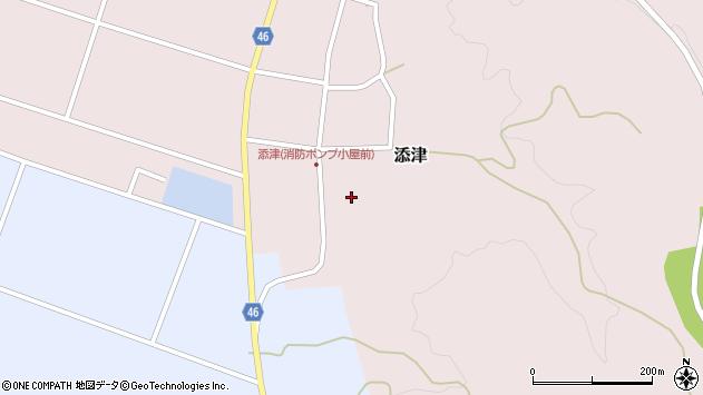 山形県東田川郡庄内町添津諏訪下23周辺の地図