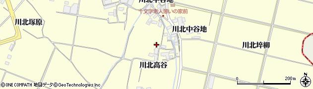 宮城県栗原市若柳川北高谷周辺の地図