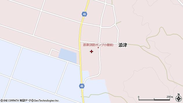山形県東田川郡庄内町添津諏訪下38周辺の地図