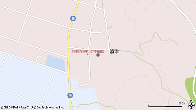 山形県東田川郡庄内町添津諏訪下42周辺の地図