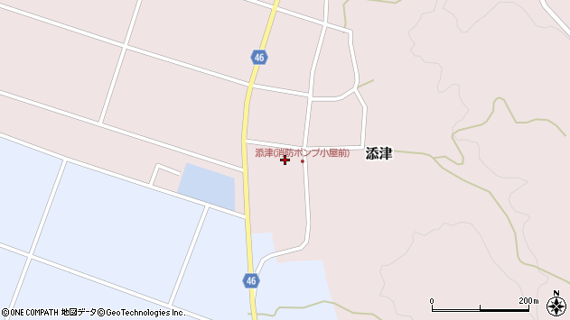 山形県東田川郡庄内町添津家ノ下13周辺の地図