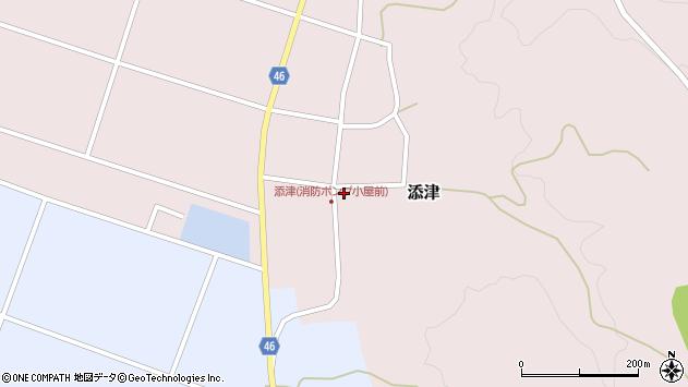 山形県東田川郡庄内町添津諏訪下41周辺の地図