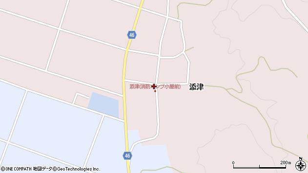 山形県東田川郡庄内町添津諏訪下40周辺の地図