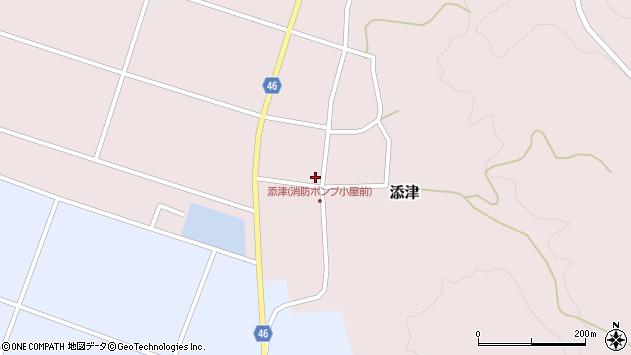 山形県東田川郡庄内町添津諏訪下47周辺の地図