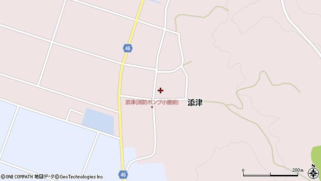 山形県東田川郡庄内町添津諏訪下周辺の地図