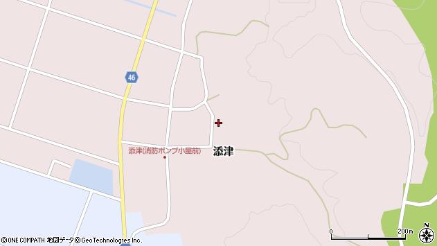 山形県東田川郡庄内町添津杉ノ入周辺の地図