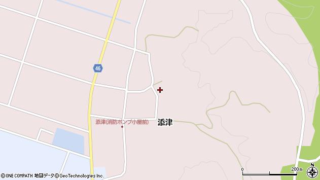 山形県東田川郡庄内町添津諏訪下82周辺の地図