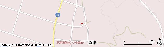 山形県東田川郡庄内町添津周辺の地図
