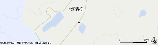 宮城県栗原市一迫北沢青符周辺の地図