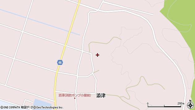 山形県東田川郡庄内町添津諏訪下70周辺の地図