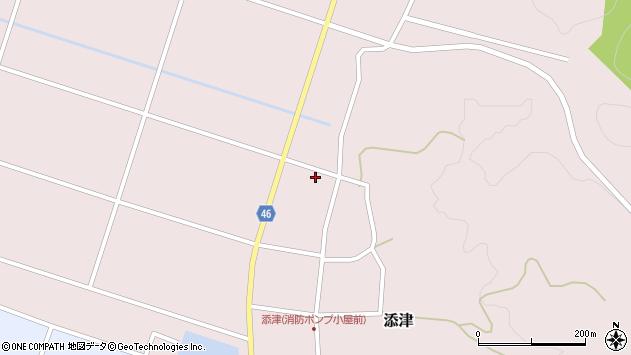山形県東田川郡庄内町添津家ノ下88周辺の地図