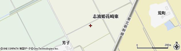 宮城県栗原市志波姫花崎東周辺の地図