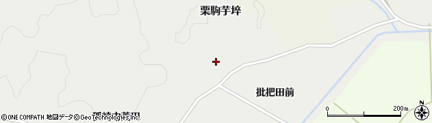 宮城県栗原市栗駒芋埣批把田周辺の地図