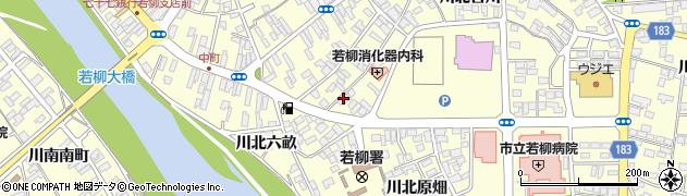 宮城県栗原市若柳川北古川周辺の地図