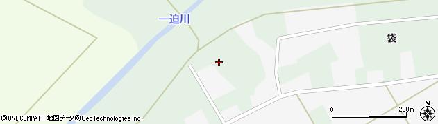宮城県栗原市志波姫刈敷袋周辺の地図