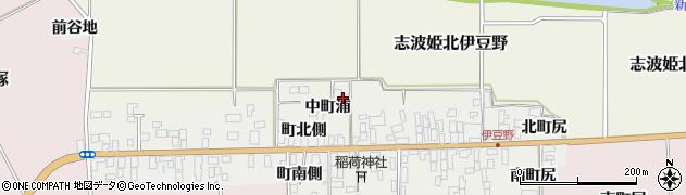 宮城県栗原市志波姫伊豆野中町浦周辺の地図